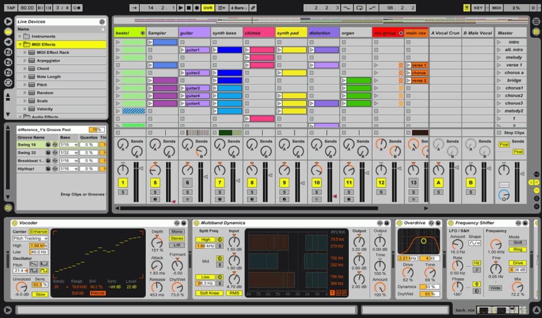 Ableton Live Lite Screenshot